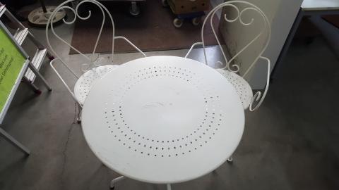 Gartentisch Metall mit Sesseln