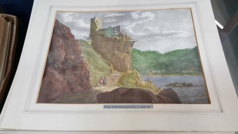 Bild, Bilderrahmen, Schloss, Ruine, Werfenstein,