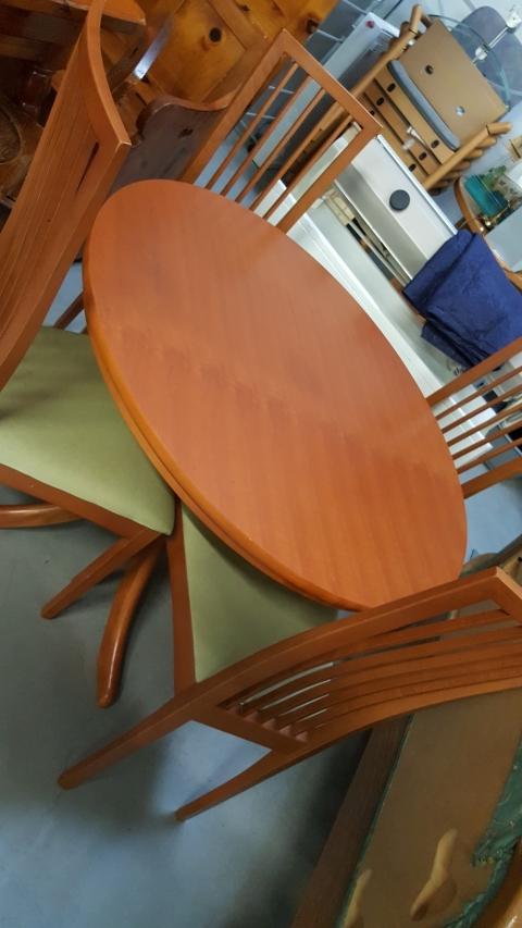 Sessel, Tisch, Esstisch, Braun,