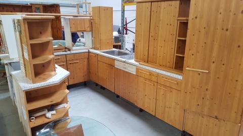 Holz, Braun, Küche, Wandschrank, Arbeitsplatte,