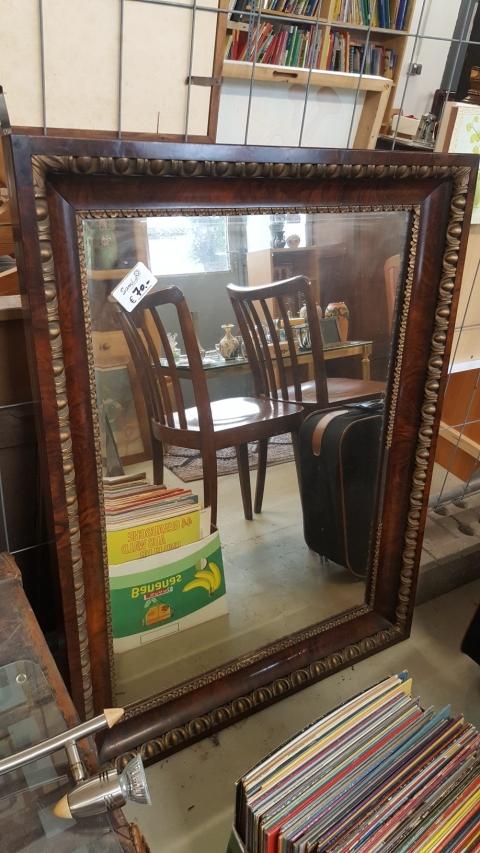 Spiegel, Holzrahmen, braun,