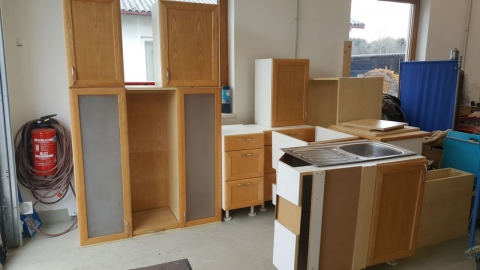 Küchenzeile, Küchenkasten, Holz, Natur,
